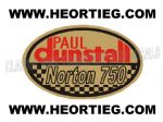 Paul Dunstall Norton 750 Tank and Fairing Transfer Decal DDUN8-5